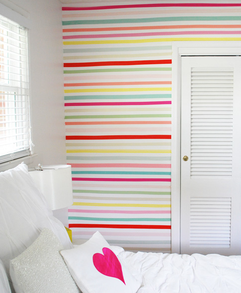Washi tape wall