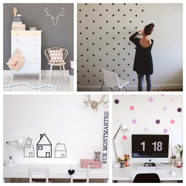 Decora paredes con washi tape
