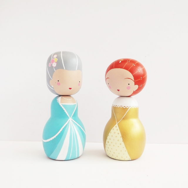 Wooden peg dolls